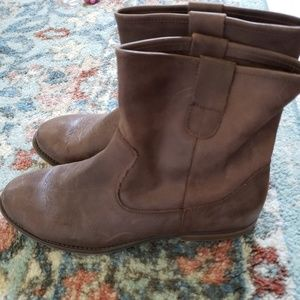 Crown Vintage Italian Leather Boots Women's 41